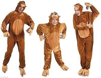 Affe Affen Äffchen Monkey Kostüm Overall Plüsch Tier - Plüsch Affe Kostüme
