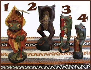 HAND CARVED MASKS & FIGURES FROM BALI & JAVA, INDONESIA