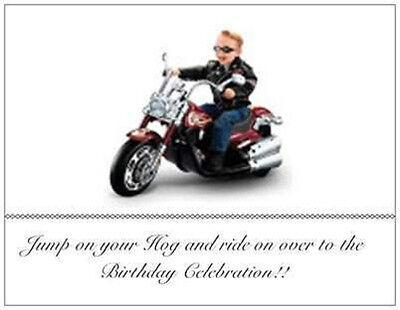 20 Birthday Motorcycle INVITATIONS 6x4 POSTCARDS Harley Davidson Kid/Ad - Harley Davidson Birthday