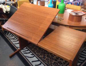Vintage Danish Modern Teak Desk Art/Drafting Table