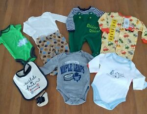 9-PIECE LOT OF BABY BOY CLOTHING - Some New With Tags