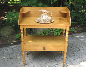 Primitive Canadiana Open Washstands or Vanities