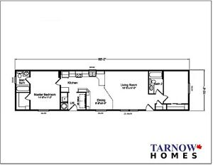New 16' wide manufactured home