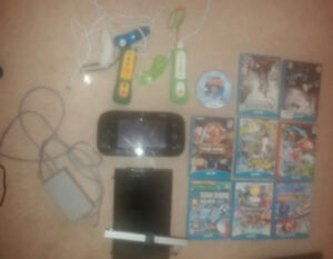 Wii U + 9 games and 2 controllers