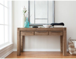 Solid acacia wood console table