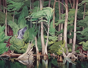 """Limited Edition """"Blue Heron"""" by A.J. Casson"""