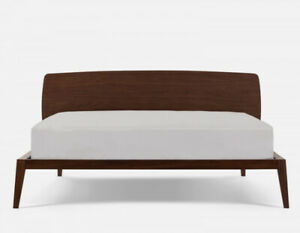 Structube  Chino Queen Bed, End Tables & Serta Firm Mattress