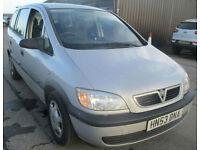 Vauxhall Zafira 1.8i 16v 2003 Club. GUARANTEED FINANCE AVAILABLE ON NEW CARS