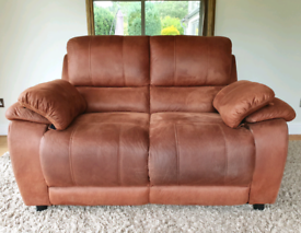 DELIVERY INCLUDED IMMACULATE HARVEYS brand 2 seater suede fabric sofa