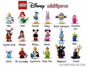Disney lego minifigures set unopened
