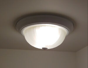 Flush Mount Light Fixture With Frosted Glass