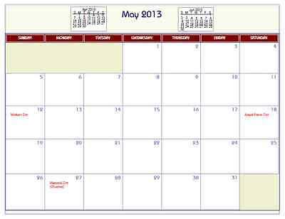 Printable Pdf Wall Calendar With Common Holidays 2015  2016  2017  2018  Etc