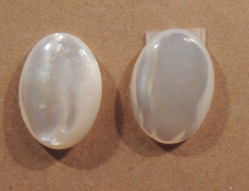 Mother of Pearl 13x18mm with 3.5-4.5mm dome Cabochons Set of 2 (2068)