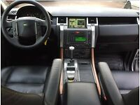 LHD LEFT HAND DRIVE RANGE ROVER SPORT 2.7 TDV6 HSE AUTOMATIC SILVER DVD 4WD BLACK LEATHER LOADED