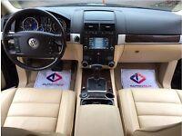 LHD LEFT HAND DRIVE VOLKSWAGEN TOUAREG 3.0 V6 TDI AUTOMATIC 4WD HIGH LINE SAT NAV LEATHER BLACK