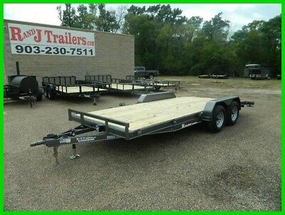 83 x 18 18ft Race Car Hauler Drag UTV Side ATV Open Show Utility Cargo Trailer