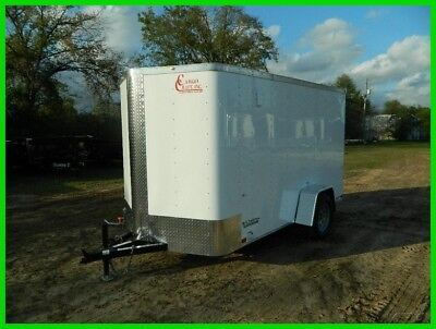 6 x 12 12ft V Nose Motorcycle Lawn Mower ATV Tool Enclosed Cargo Utility Trailer