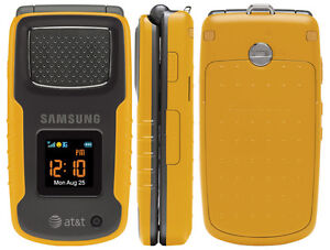 Samsung-Rugby-SGH-A837-GSM-AT-T-Cellular-PHONE-yellow