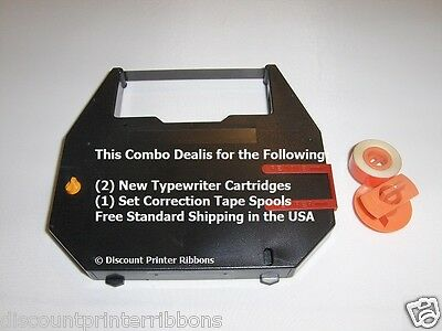 Combo Deal Sears Graduate New Style Typewriter Ribbons Correction Spool