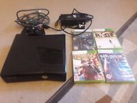 xBox 360 Black (excellent condition) with 4 great games £60 ono