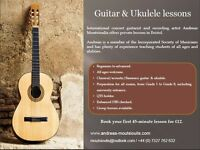 Guitar and Ukulele lessons - trial lesson £12!!
