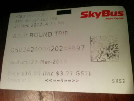 Skybus Ticket ~Free Postage~ Single Adult RRP$19.5