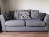 DFS NEST Charcoal grey 3 seater sofa for sale. Under 2 years old. Immaculate condition
