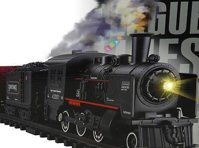 Eisenbahn Set Rail King Licht Zug Batteriebetrieben Lok Wagons Dampf