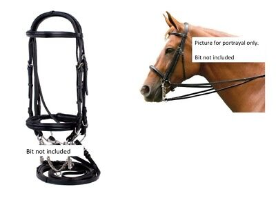 - NEW Silverleaf Double (or single) Raised Padded Double Bridle Two Pair of Reins