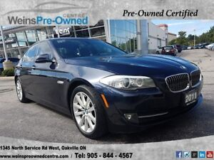 2011 BMW 5 Series 528I| SENSORS|NAVI|LEATHER|SUNROOF