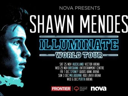 2 Tickets -Shawn Mendes - Perth Arena DEC 6  (2017) Tiered seating