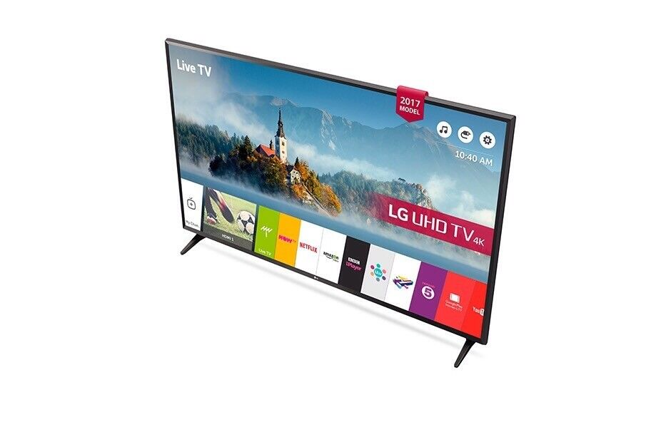 LG 43 inch HDR 4K LED Smart TV with wifi, Miracast & Freesat HD & Freeview Play