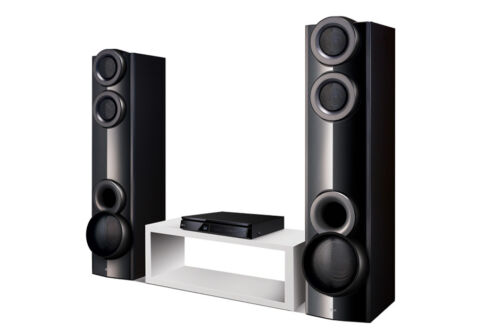 LG 1000W 6-Ch. 3D Smart Blu-ray Home Theater System Black LHB675