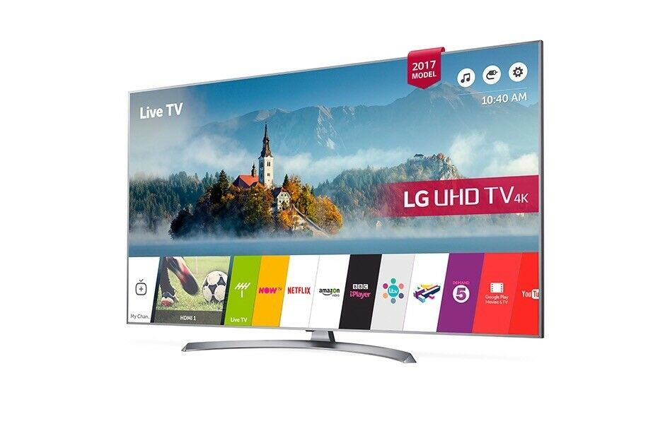 Brand new LG 49 inch HDR 4K LED Smart TV With Freeview Play & Crescent Stand, Silver