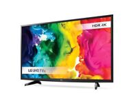 Brand new LG 49 inch HDR 4K LED Smart TV with wifi, Miracast & Freesat HD & Freeview Play