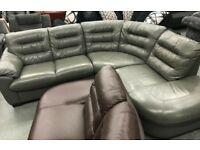 DFS Diego leather corner sofa and recliner Armchair