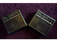 3 small 10w guitar amps