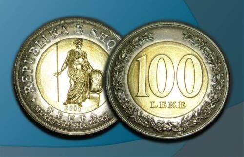 ALBANIA 2000 - 100 LEKE COIN - UNC - Current in Circulation
