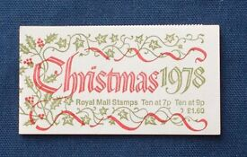 Stamps - Christmas booklet 1978 - Mint complete - 20 stamps.