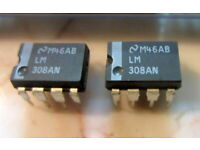 2 pieces  LM208AN = LM308AN  PRECISION SINGLE OPAMP OP77 LM308 DIP8 NEW ~
