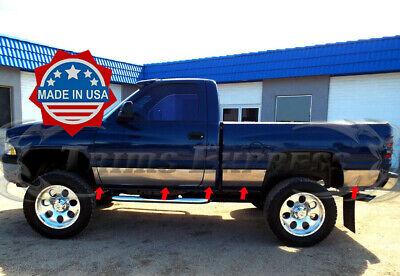"fits 1998-2001 Dodge Ram Regular Cab Short Bed Rocker Panel Trim 8.5"" 10Pc"