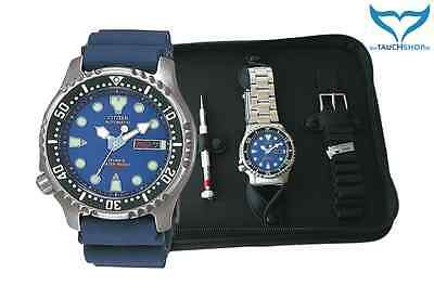 Citizen Promaster TaucherUhr ArmbandUhr NY0040-17LEM 20bar blau Set NY0040-17L