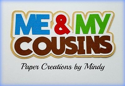 CRAFTECAFE MINDY COUSINS FAMILY premade paper piecing scrapbook title die cut