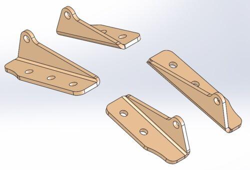 Aluminum Clodbuster axle brace single shock mount