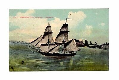Inv 344 Vintage Commodore Perry's Flagship Lawrence Ship