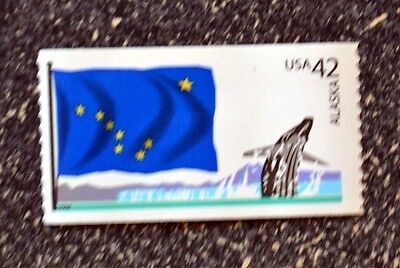 2008USA 4275 42C ALASKA STATE FLAG - FLAGS OF OUR NATION  MINT NH  WHALE