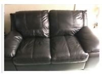 DFS leather settee