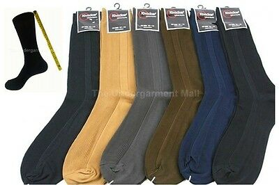 Mens Dress Socks 6 Pairs Lot Ribbed Crew Style Casual Fashion Size 9-11 10-13 (Crew Ribbed Crew Socks)