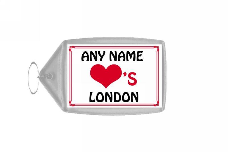 Love Heart London Personalised Keyring