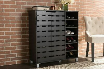 Shoe Cabinet Chest Dresser Storage Rack Tall Doors Tower Closet Furniture Wood Shoe Cabinet Furniture